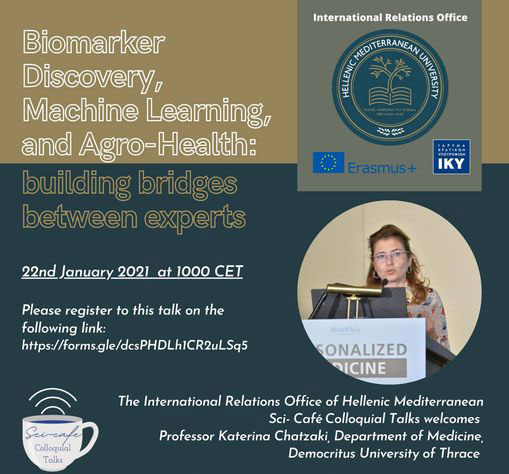 """Sci-Cafe """"Biomarker Discovery, Machine Learning and Agro-Health"""""""